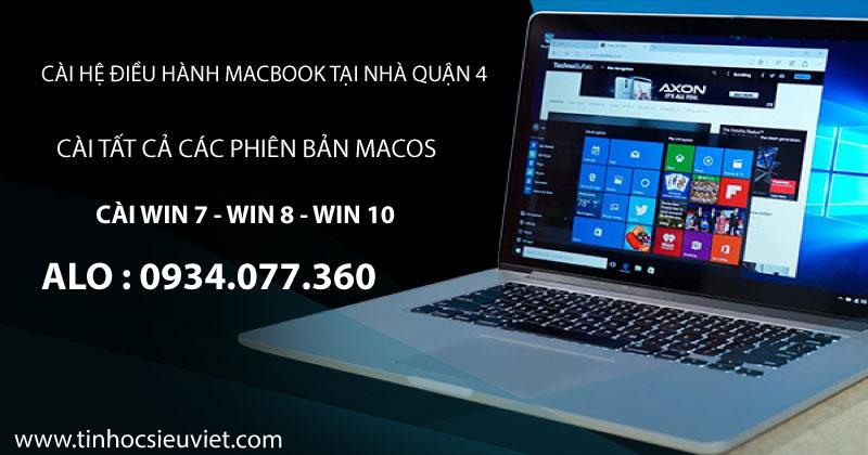 Dịch vụ cài hệ điều hành MacOS, cài windows tại nhà quận 4 uy tín, chất lượng, giá rẻ