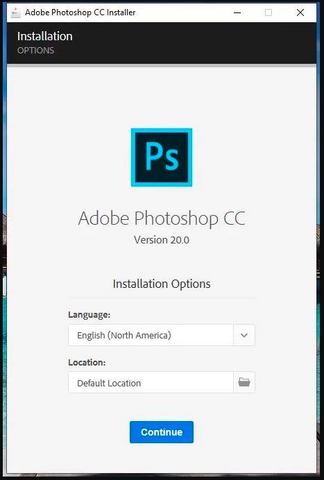 chọn ngôn ngữ cài đặt photoshop cc 2019