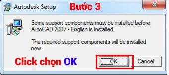 chọn oke thể tiến hành cài đặt autocad 2007