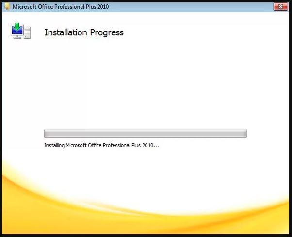 hướng dẫn cài đặt office 2010 chọn install để bắt đầu cài đặt