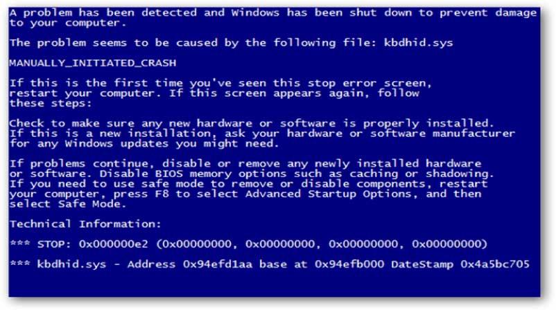 Lỗi máy tính màn hình xanh và cách khắc phục đơn giản