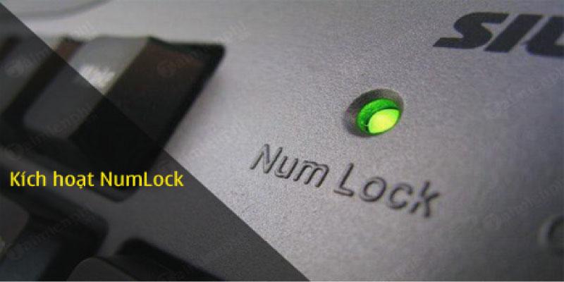 Đèn numlock vấn sáng nhưng không xuất hình