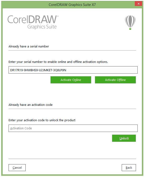 Nhập key và chọn Click Active Offline