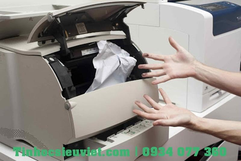 Lỗi kẹt giấy xảy ra khá phổ biến ở máy in